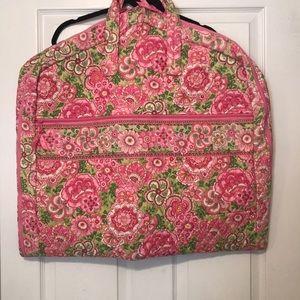Vera Bradley garment bag in Petal Pink